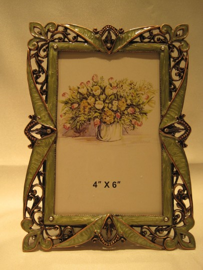 "Other Victorian Embellished Copper Filigree Frame (for Photos 4""x 6"") - [ Roxanne Anjou Closet ]"