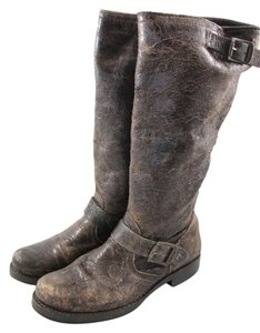 Frye Veronica Slouch Distressed Brown Boots