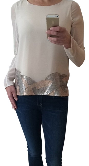Preload https://item1.tradesy.com/images/mm-couture-neutrals-rose-gold-silver-sequin-blouse-night-out-top-size-2-xs-1469000-0-0.jpg?width=400&height=650