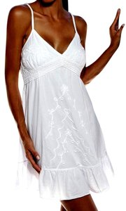 Lirome short dress White Embellished Summer on Tradesy