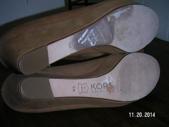 Michael Kors tan Platforms