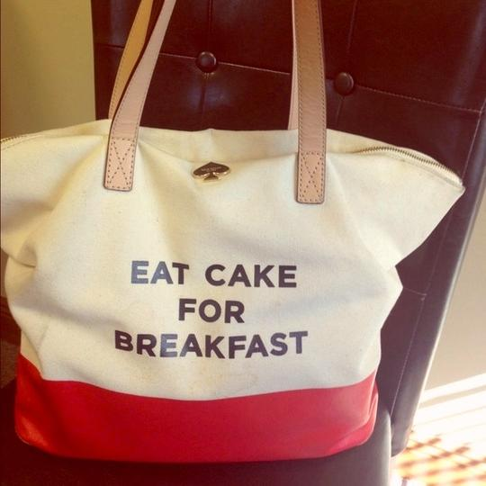 Kate Spade Call To Action Tote in red