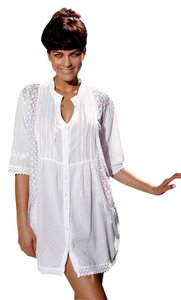 Lirome short dress White Cozy Lace Embroidered Tunic on Tradesy