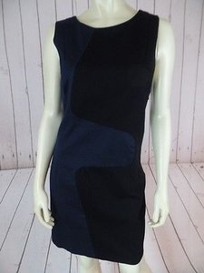Rag & Bone Colorblock Sheath Sleeveless Cotton Elastane Chic Dress