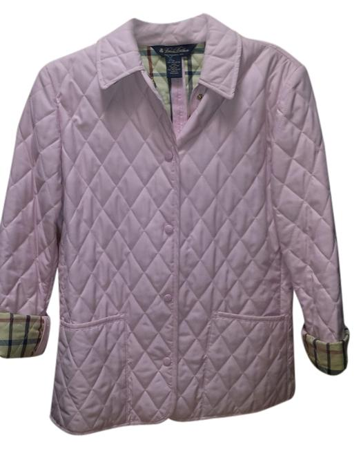 Brooks Brothers Quilted Quilted Fabulous Chic Hip Girly Lady Like pink with plaid lining Jacket