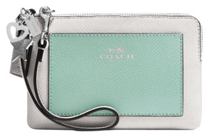 Coach Wristlet in Silver/Seaglass