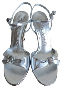 Nina Shoes Evening Bridal Silver Formal