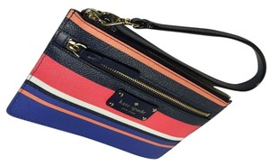 Kate Spade Wlru2530 Wellesley Wristlet in Tropical Stripes