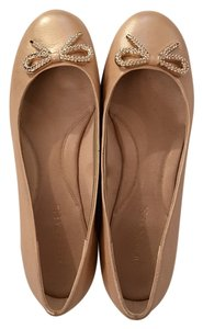 Aerosoles Gold Hardware Bows With Crystals Ballerina Pearlized Peach Pearlized Flats
