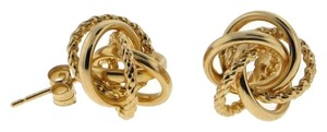14k Yellow gold open knot earrings