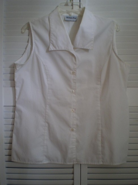 Preload https://item1.tradesy.com/images/white-sleeveless-button-down-top-size-16-xl-plus-0x-146930-0-0.jpg?width=400&height=650
