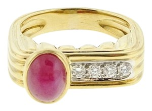 Other 18k & Platinum Ruby & diamond (stackable) square ring