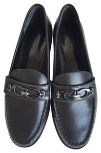 Coach Mahla Loafers Moccasins Black Flats