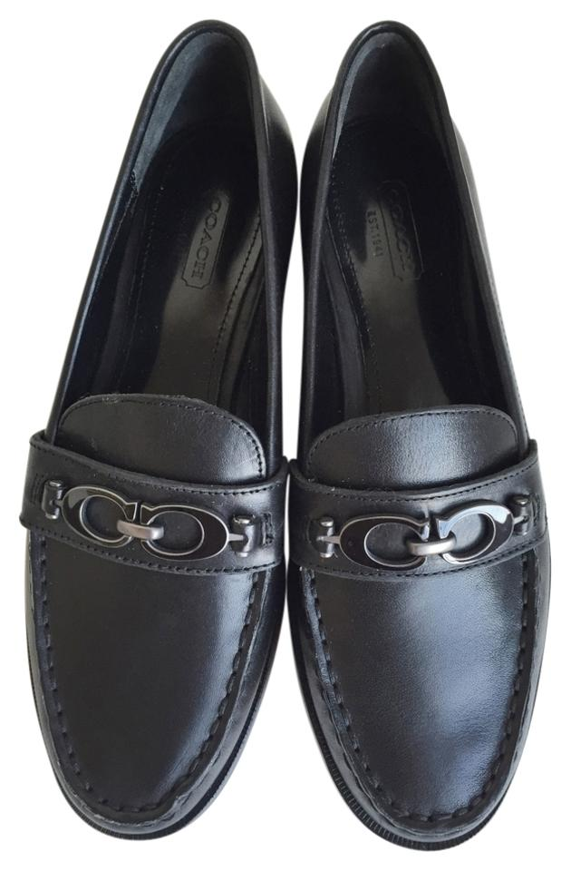 63c05bee245 Coach Black Mahla Loafers Moccasins Flats. Size  US 6.5 Regular (M ...