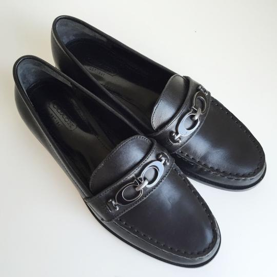 Coach Mahla Loafers Moccasins Penny Keeper Oxford Black Flats