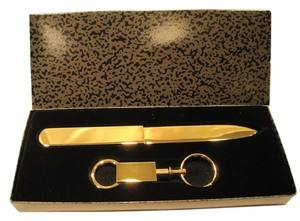 Golden Letter Opener and Key Ring - [ Roxanne Anjou Closet ]