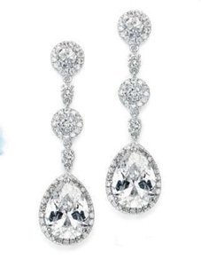 Mariell Silver 400e Cz Earrings