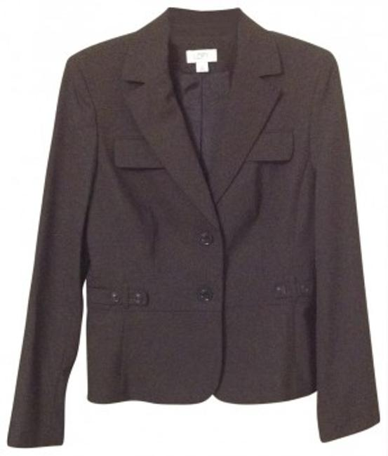 Preload https://img-static.tradesy.com/item/146947/ann-taylor-loft-brown-fitted-long-sleeve-blazer-size-10-m-0-0-650-650.jpg