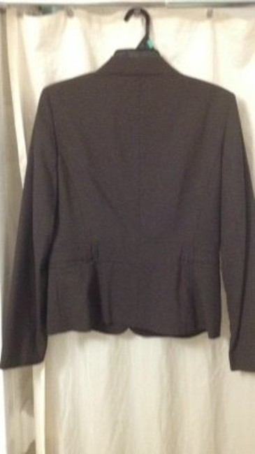 Ann Taylor LOFT Fitted Long Sleeve brown Blazer