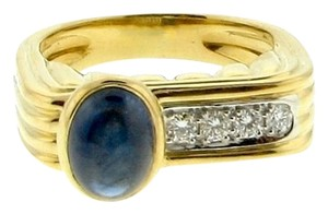 Other Sapphire 18k & platinum diamond stackable right hand ring/band
