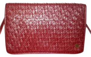 Etienne Aigner Flap Cover Clutch Vintage Envelope Woven Leather Shoulder Bag