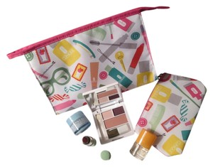 Clinique Brand new Clinique cosmetic bags bundle deal 6 pc. includes: 1 Large cosmetic bag, 1 small cosmetic bag, skin care, and Clinique Happy Fragrance!
