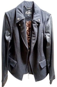 Sam Edelman Wool Blend Convertible Sleeve Black Jacket