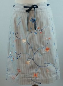 Talbots Embroidered Skirt Multi-Color