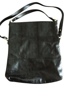 BCBGeneration Snake Bcbg Leather Bcbg Bcbg Black Messenger Bag
