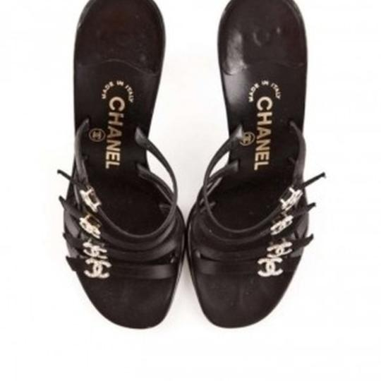 Chanel Black Mules Image 2