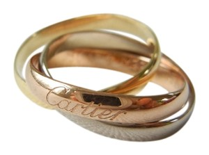 Cartier Cartier 18k Tri Color Gold Trinity Rolling Ring in size US 4 - 4.5 European size 47