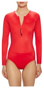 Spanx SPANX LONG SLEEVE ONE PIECE ZIP FRONT SWIM BATHING SUIT SZ 12 *sold out in stores*