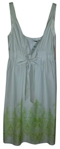 Democracy short dress White/lime green accent NWT White Lined on Tradesy