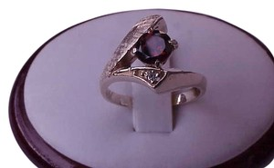 Art Deco 14k Yellow Gold Genuine Garnet & Diamond Ring ,1930's