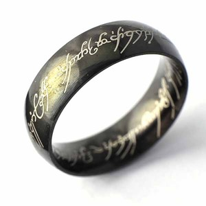 Black Bogo Free Comfort Fit Free Shipping Men's Wedding Band
