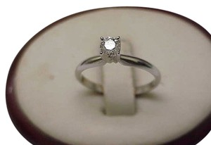 Other Estate Vintage 14k White Gold Engagment .25ct VS/G Old European Cut Diamond Ring