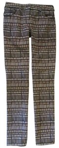 3.1 Phillip Lim Straight Pants Brown Black White Multicolor