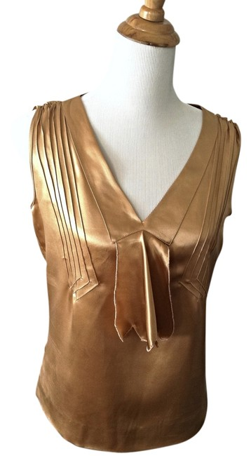 Marc Jacobs Holiday Date Night Sleeveless Gold Vintage Look Top
