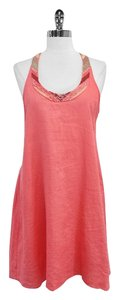 Calypso short dress Coral Beaded Racerback on Tradesy