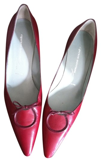 Sigerson Morrison Date Night Office Leather burgundy Pumps