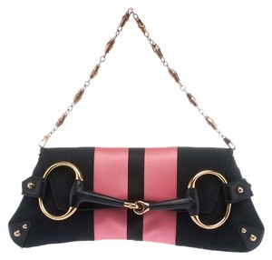 Gucci Horsebit Satin & Pochette Shoulder Bag