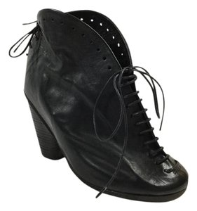Marsll Lace Up Armadillo Black Boots