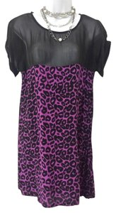 Motel Rocks short dress Black Asos Mini Leopard Mesh on Tradesy