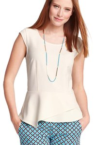 Ann Taylor Asymmetric Top Winter White