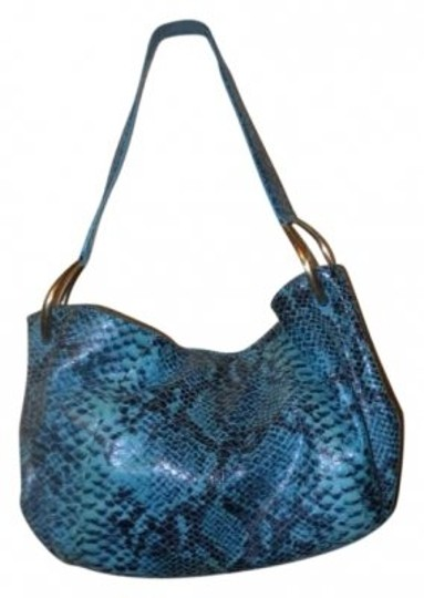 Preload https://item5.tradesy.com/images/antonio-melani-snake-skin-print-blue-and-black-leather-hobo-bag-146979-0-0.jpg?width=440&height=440