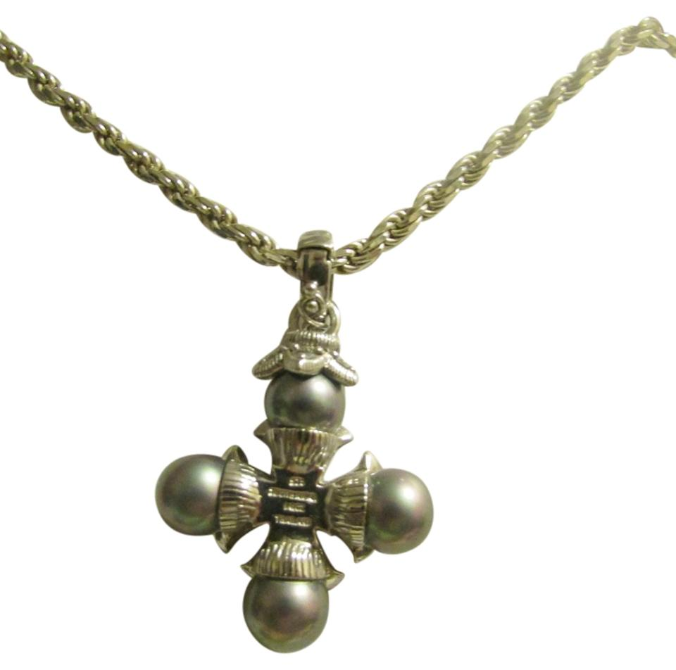 Judith ripka sterling silver 925 grey pearl cross enhancer necklace judith ripka judith ripka 925 grey pearl cross enhancer aloadofball Gallery