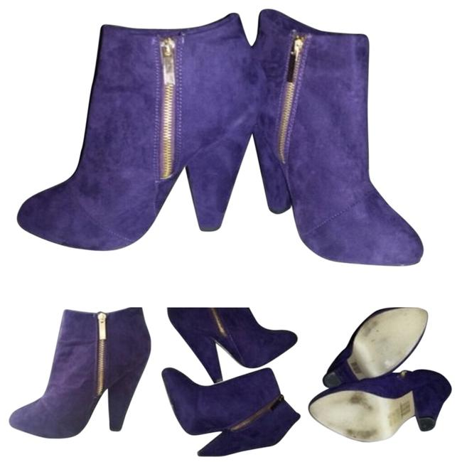 Item - Purple Faux Suede Boots/Booties Size US 7 Regular (M, B)