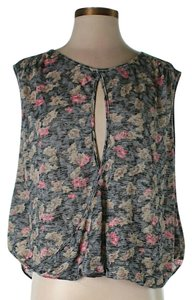 Free People Oversized Floral Cross-back Top