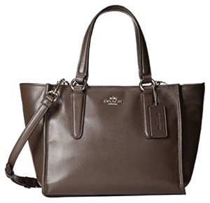 Coach Crossbody Carryall Smooth Leather Satchel in mink