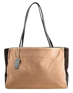 Max Mara Tan Wool Tote in Brown